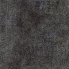 "Reactions 4"" x 4"" Glazed Porcelain Field Tile in Black"