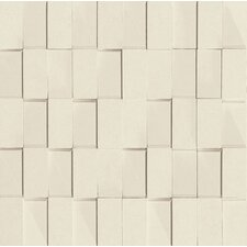 "Skyline 12"" x 12"" Glazed Porcelain Rectified Brick in White"