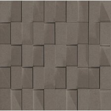 "Skyline 12"" x 12"" Glazed Porcelain Rectified Brick in Smoke"