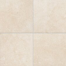 "Italian Stone 4"" x 4"" Glazed Porcelain Field Tile in Avorio"