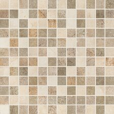 "Italian Stone 12"" x 12"" Porcelain Mosaic in Mix"