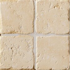"<strong>Marca Corona</strong> Italian Country 4"" x 4"" Bullnose Tile Trim in Bianco"