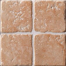 "Italian Country 4"" x 4"" Bullnose Tile Trim in Rosa"