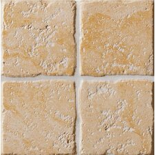 "Italian Country 4"" x 4"" Bullnose Outcorner Tile Trim in Giallo"