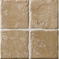 "Italian Country 4"" x 4"" Bullnose Outcorner Tile Trim in Noce"