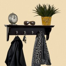 <strong>Woodland Home Decor</strong> Hook Shelf