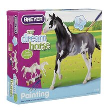 <strong>Breyer Horses</strong> Arabian and Thoroughbred Paint Your Own Horse Play Set