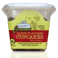 "Gourmet 5"" Carob Flavored Cupcakes Dog Treat"