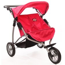 <strong>The New York Doll Collection</strong> Doll Twin Jogging Stroller