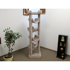 "72"" Premiere Solid Wood Skyscraper Cat Tree"