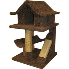 Mini Cat Pagoda & Sisal Rope Scratch Post
