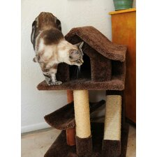 <strong>New Cat Condos</strong> Mini Cat Pagoda with Sisal Rope Ramp
