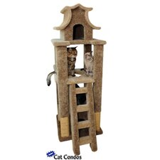 "<strong>New Cat Condos</strong> 67"" Designer Pagoda Cat Tree"