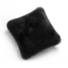 Natural Sheepskin Long Wool Microsuede Floor Cushion