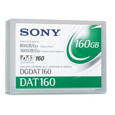 8 mm DAT 160 Data Cartridge, 154m, 80GB Native/160GB Compressed Data Capacity