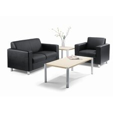 Leather Reception Seating Group Set
