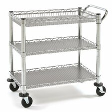 UltraZinc 3-Shelf NSF Commercial Steel Wire Utility Cart