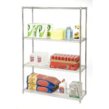 "UltraZinc NSF Commercial Wire System 72"" H 4 Shelf Shelving Unit"