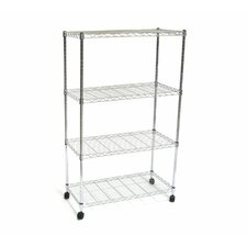 "UltraZinc Home Style Wire System 48"" H 4 Shelf Shelving Unit"