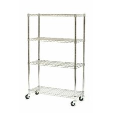 "UltraZinc NSF Commercial Wire System 54"" H 4 shelf Shelving Unit"