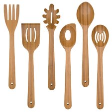 7-Piece Bamboo Kitchen Utensil Set with Caddy