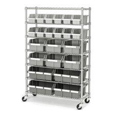 "Commercial 56"" H Seven Shelf Shelving Unit"