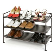 Resin-Wood Composite Utility Shoe Rack