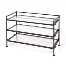 <strong>Seville Classics</strong> 3 Tier Polycarbonate Multipurpose Shoe Rack