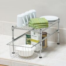 <strong>Seville Classics</strong> UltraZinc Mini Basket and Shelf Organizer