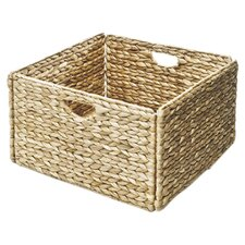 Woven Hyacinth Storage Cube Basket 2 Pack