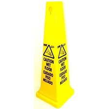 Tall Caution Sign Cone in English