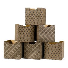 Diamond Pattern Decorative Storage Box (Set of 6)