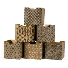 Modern Print Combo Set Decorative Storage Box (Set of 6)