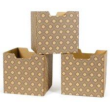 Leaf Pattern Decorative Storage Box (Set of 3)