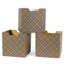 Diamond Pattern Decorative Storage Box (Set of 3)