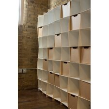 "49 Cubby Large Wave 79.3"" Bookcase"