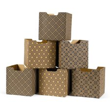 Modern Pattern Set Decorative Storage Box (Set of 6)