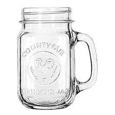 Mugs and Tankards 16.5 oz. Emblem Drink Jar (Set of 12)