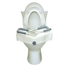 Locking Molded Raised Toilet Seat with Arms