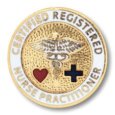 Certified Registered Nurse Practitioner with Emblem Pin