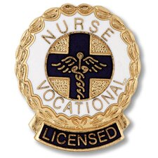 Licensed Vocational Nurse Wreath Edge with Emblem Pin