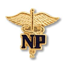 Nurse Practitioner Caduceus Emblem Pin