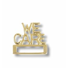 We Care Cloisonne Badge Tac