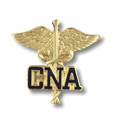 Certified Nursing Assitant Caduceus with Emblem Pin