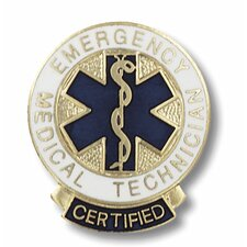 Certified Emergency Medical Technician Emblem Pin