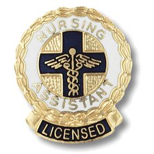 Licensed Nursing Assitant Wreath Edge with Emblem Pin