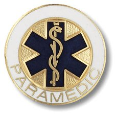 Paramedic Star of Life Design with Emblem Pin