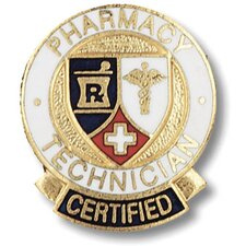 Certified Pharmacy Technician with Emblem Pin