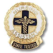 State Tested Nurses Assitant Wreath Edge with Emblem Pin