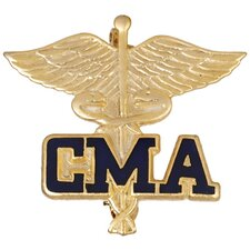 Certified Medical Assitant Caduceus with Emblem Pin